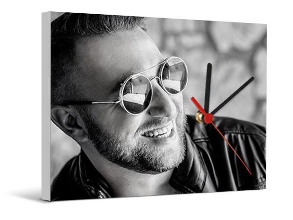 Orologi Da Parete In Tela : Tela orologio personalizzata con foto crea online